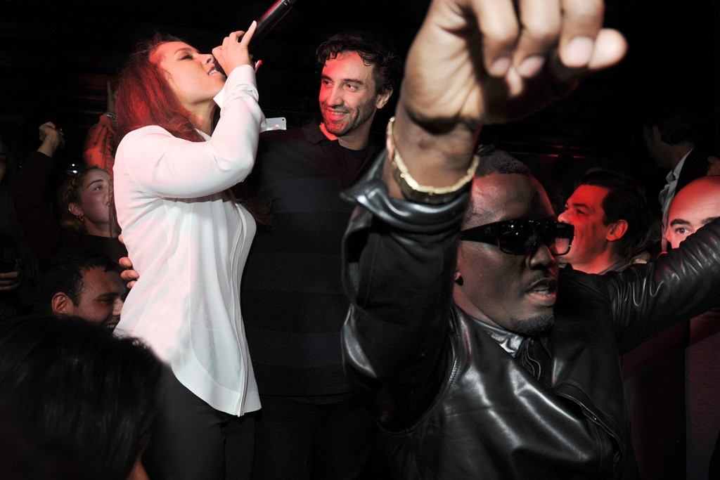Alicia Keys, Riccardo Tisci and Sean 'P Diddy' Combs