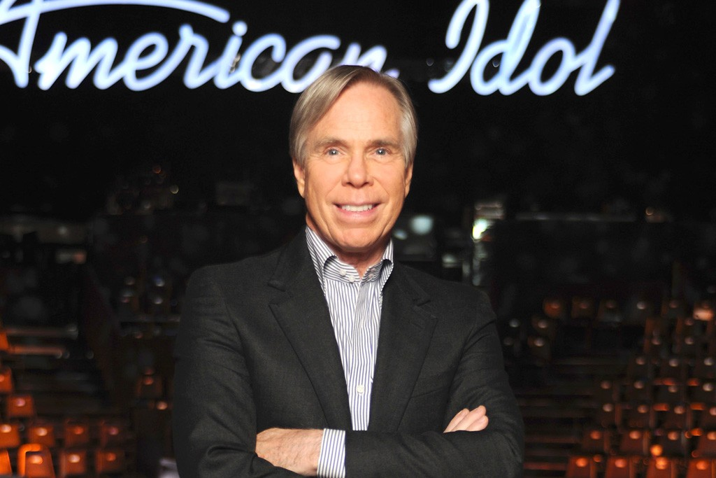 """Tommy Hilfiger on the """"American Idol"""" stage."""