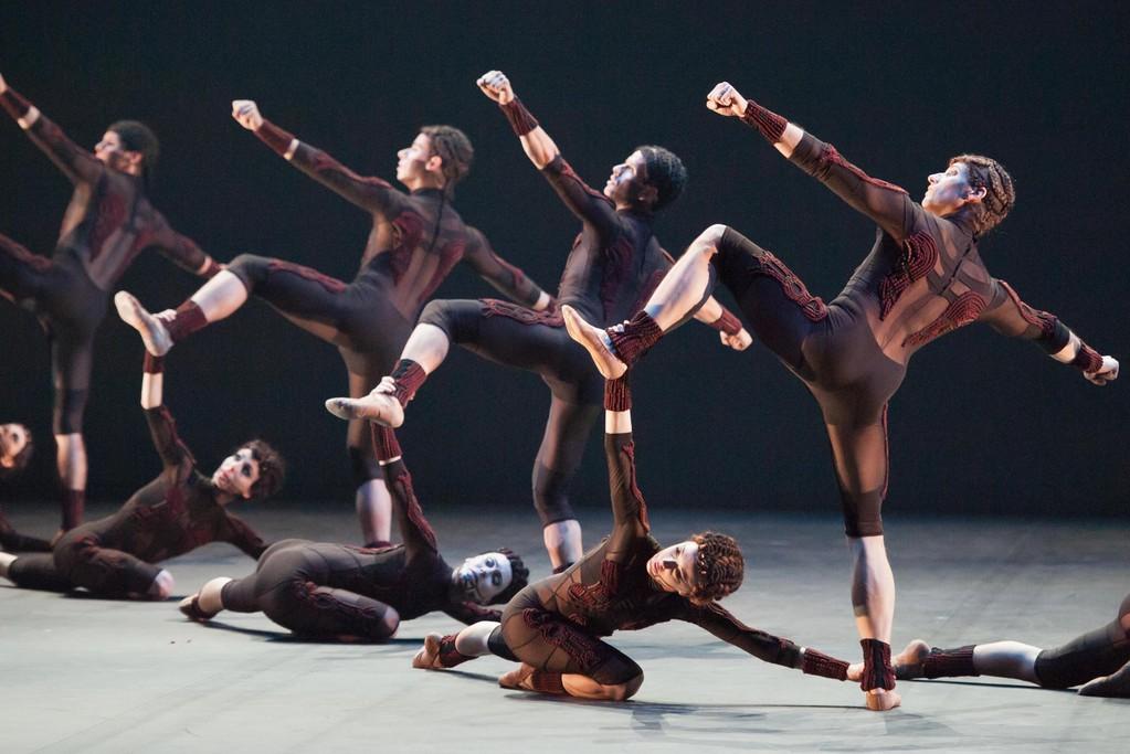 Dancers wearing costumes by Kinder Aggugini.