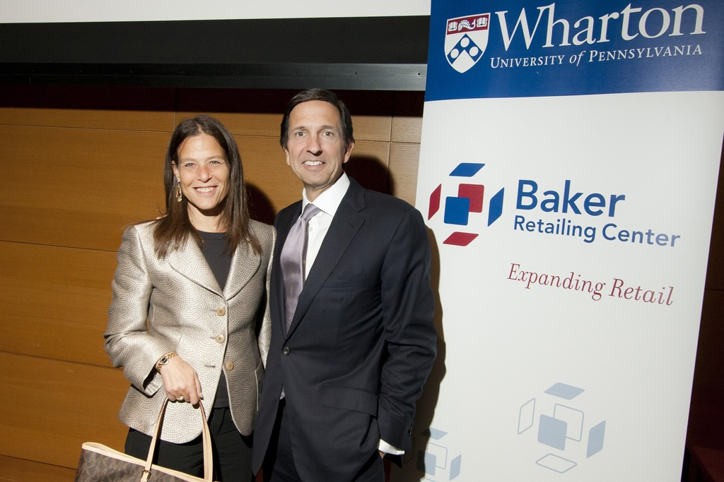 Barbara Kahn, Professor of Marketing and director of the Jay H. Baker Retailing Center at the Wharton School, with John Idol.