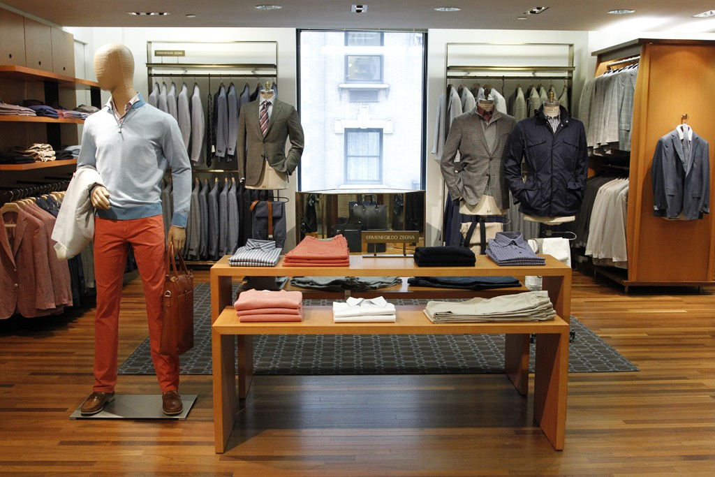 A view of the men's wear floor at Barneys New York.