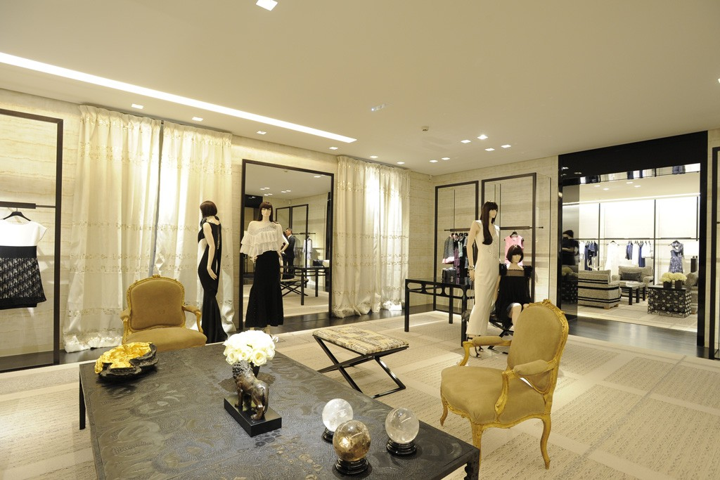 A view of the new Chanel boutique on Avenue Montaigne.