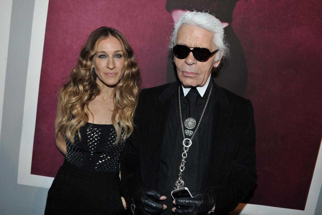 Sarah Jessica Parker and Karl Lagerfeld