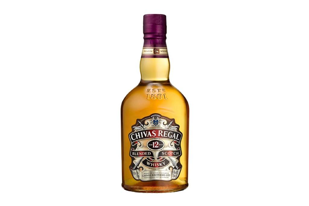 A bottle of Chivas Regal.
