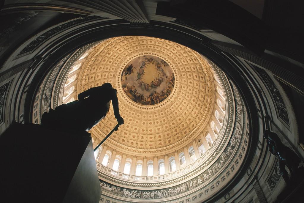 The U.S. Capitol Interior.