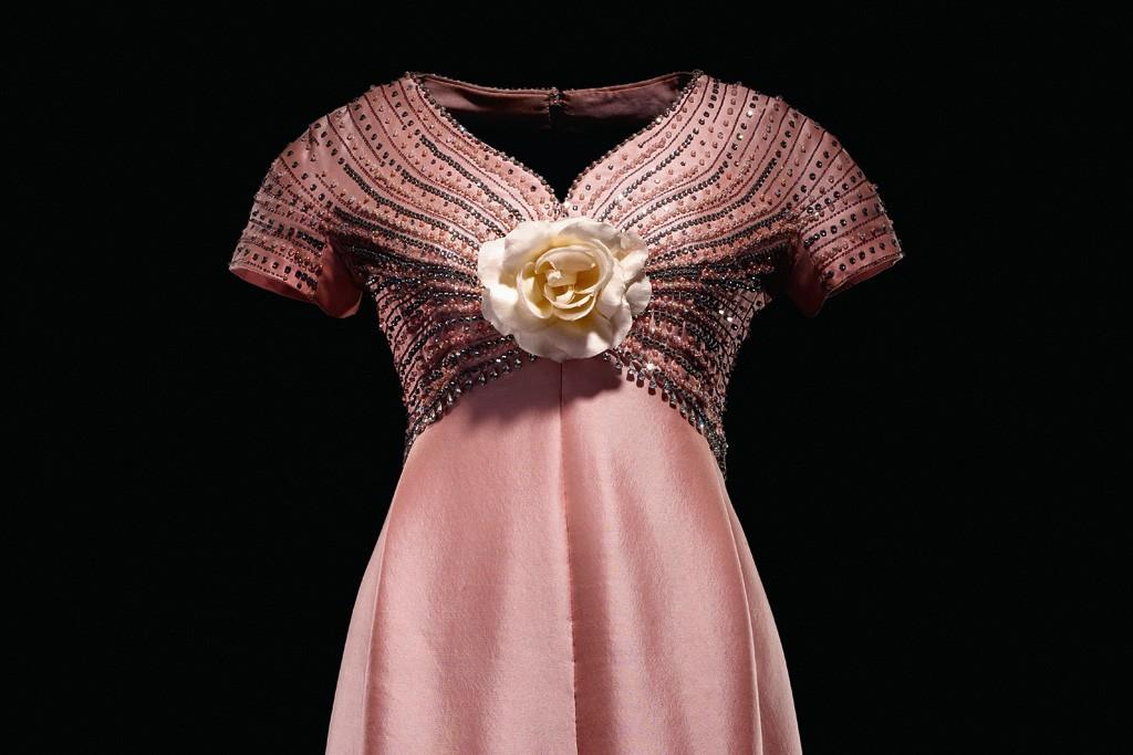 A 1963 Christian Dior London dress worn by Gina Lollobrigida.