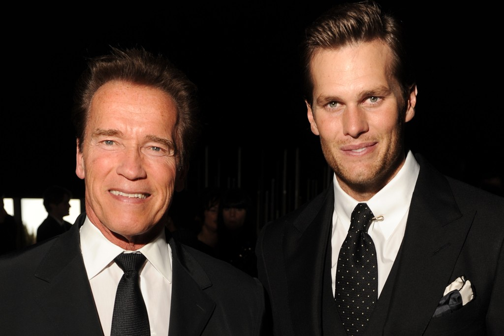 Arnold Schwarzenegger and Tom Brady