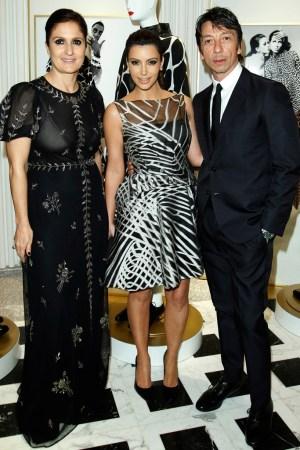Maria Grazia Chirui, Kim Kardashian and Pierpaolo Piccioli.