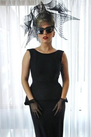 Lady Gaga wore Sally LaPointe to Harvard Wednesday.