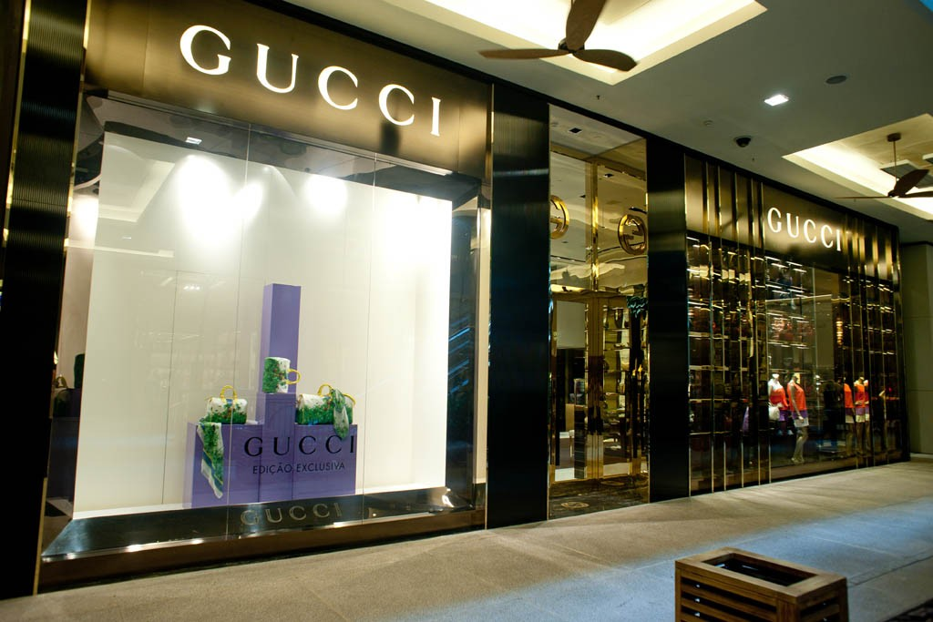 A view of the Gucci store.