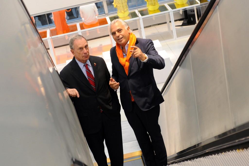 Mayor Michael Bloomberg and Joe Mimran