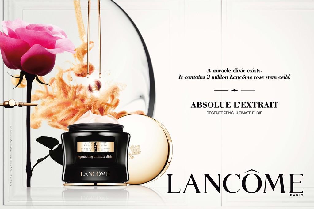 Lancôme's Absolue L'Extrait ad visual.