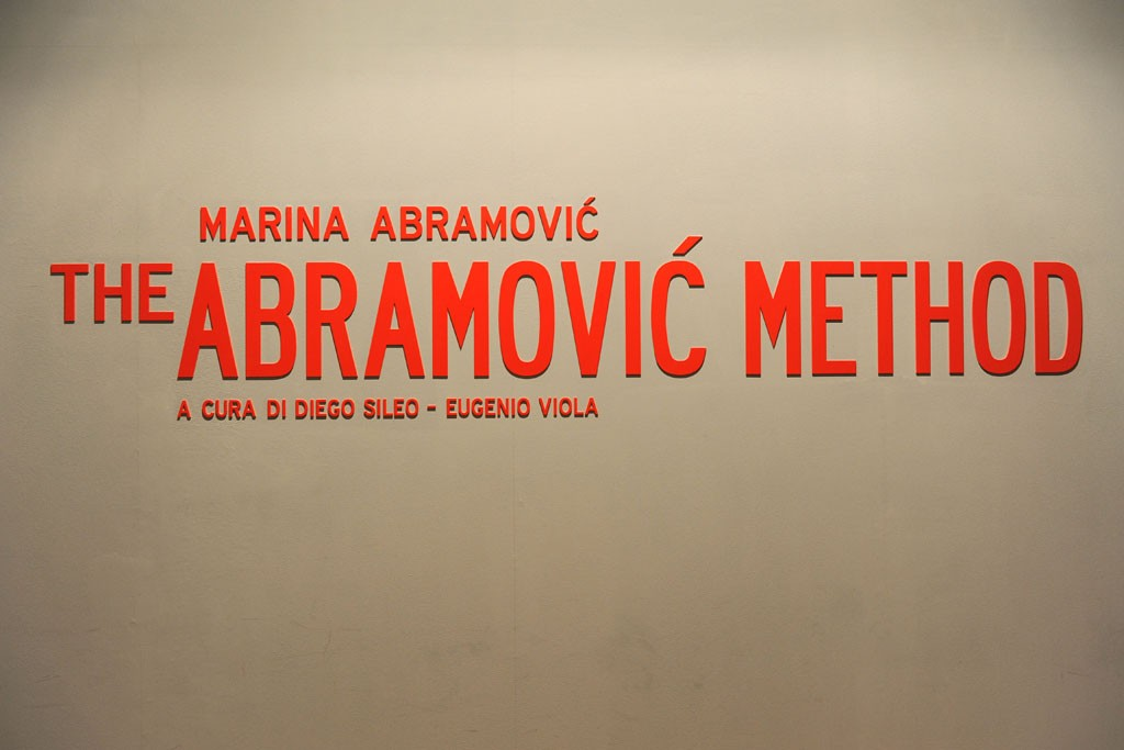 "A view of ""The Abramovic Method."""