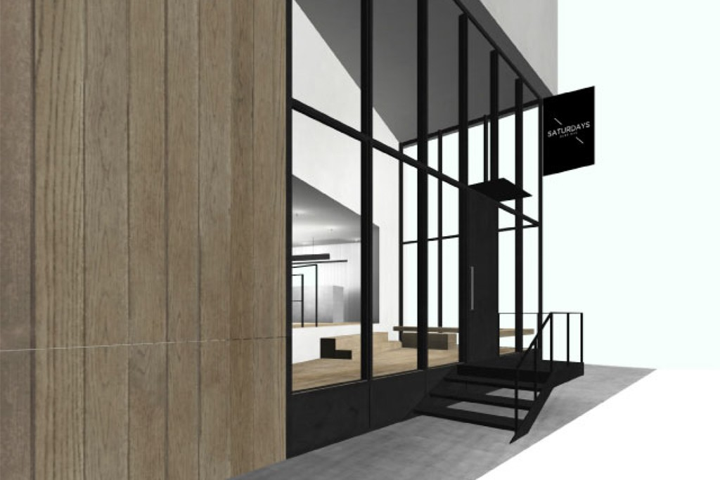 A rendering of the Saturdays store to open in Asia, N.Y.