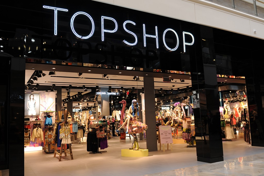 A look at the Topshop store.