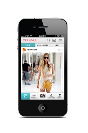Trendabl is a new photo-sharing fashion app, used by celebrities such as the Olsen twins and, pictured here, Harley Viera-Newton.