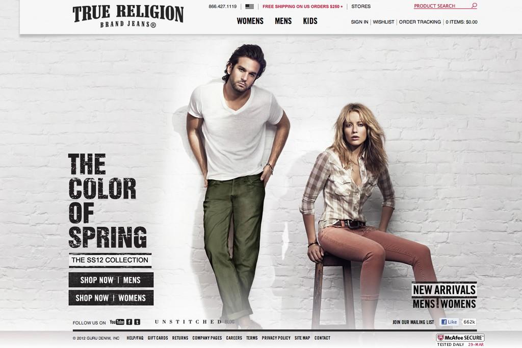 The official True Religion Web site.