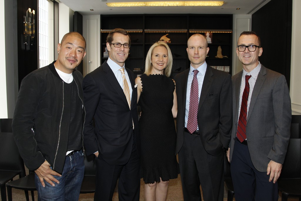 From left to right: Peter Kim, William Busko, Marla Sabo, Todd Finger, and Steve Kolb.
