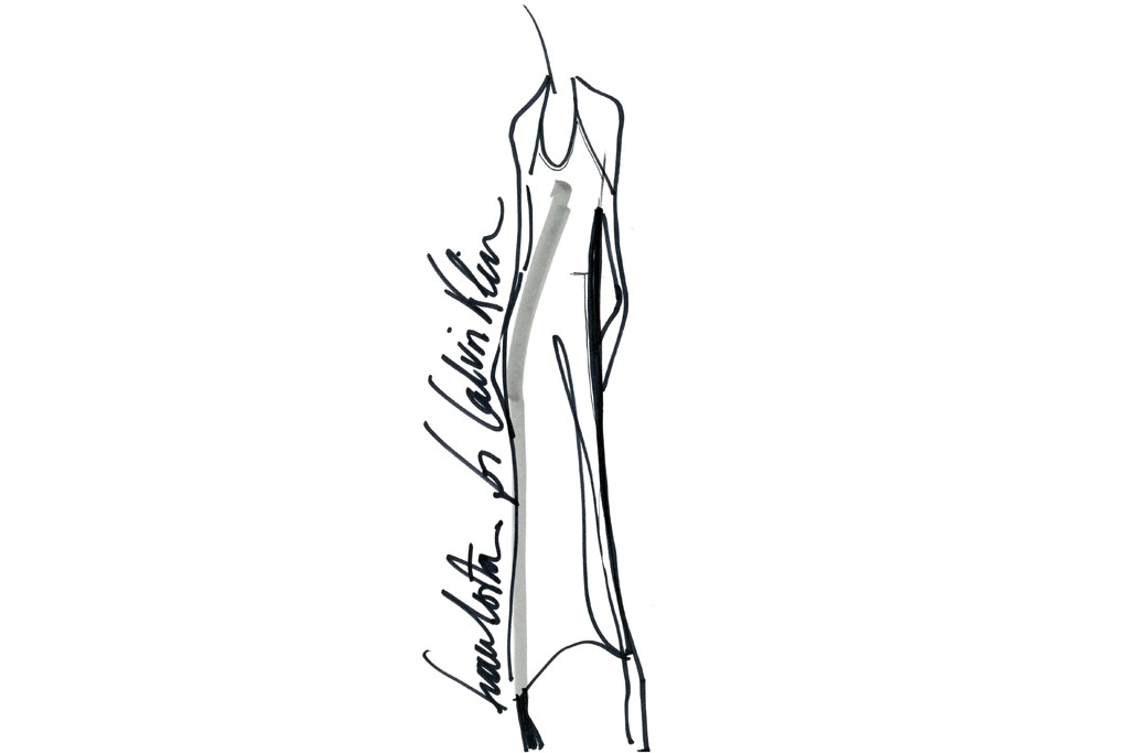 A sketch from the Francisco Costa for Calvin Klein dress collection, which is exclusive to Macy's' Brazil-themed promotion.