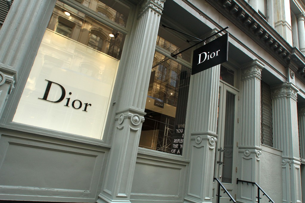 A look at the Dior Homme boutique in Soho.