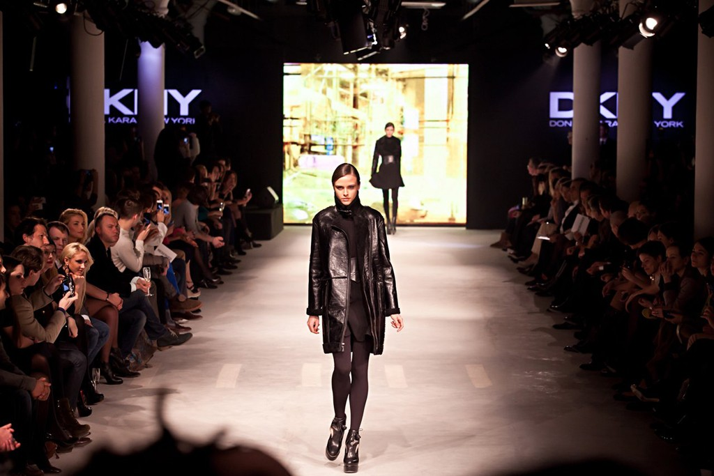 DKNY's fall runway show in Moscow.