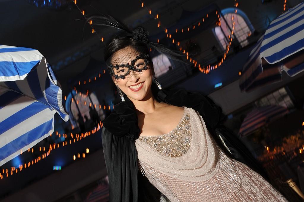 Adelina Wong Ettelson in Badgley Mischka and de Grisogono earrings.