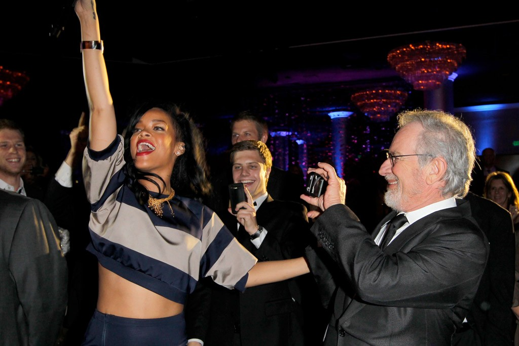 Rihanna and Steven Spielberg