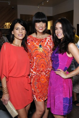 Perrey Reeves, Trina Turk And Abigail Spencer.