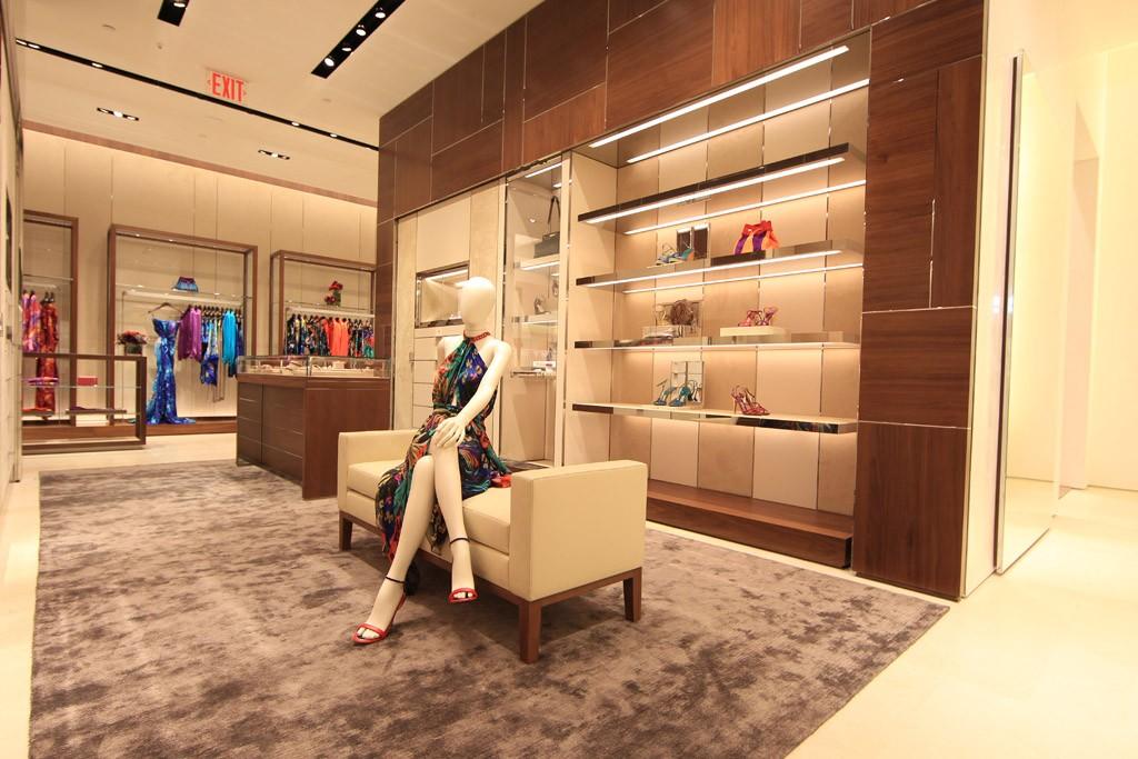 Inside the Ferragamo flagship store.