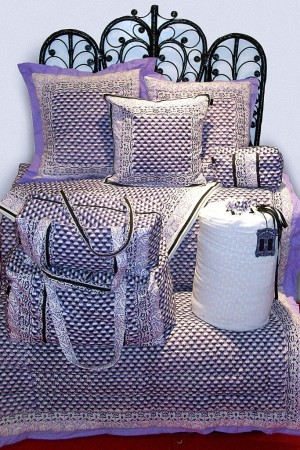 Designs from Anna Sui's new bedding line.