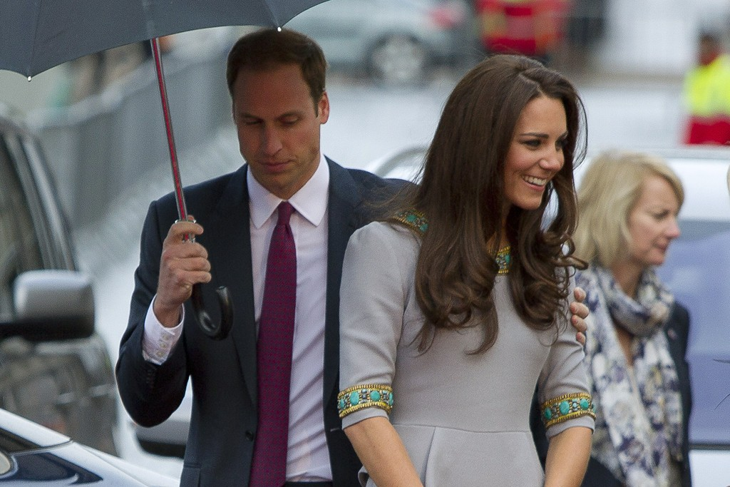 """The Duke and Duchess of Cambridge arriving to the U.K. premiere of """"African Cats."""""""