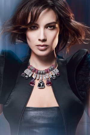French actress Bérénice Marlohe, the face of Swarovski's fall 2012 campaign.