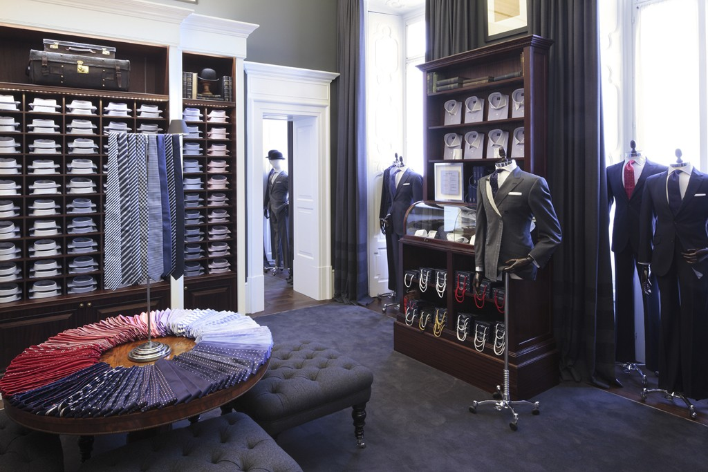 A view of the Hackett London store in Italy.