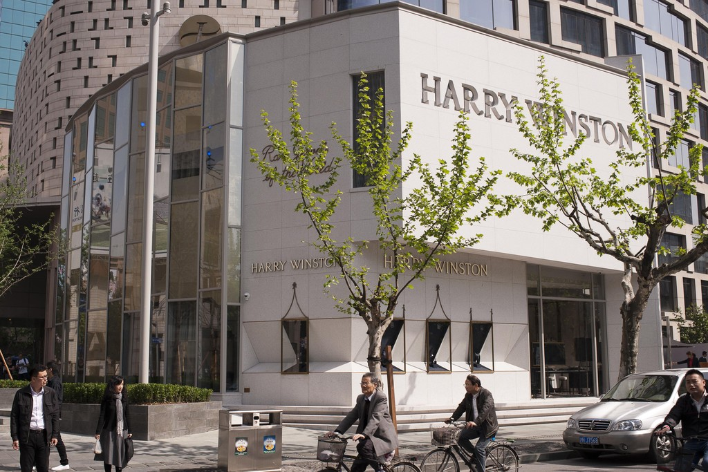 The Harry Winston flagship in Shanghai.