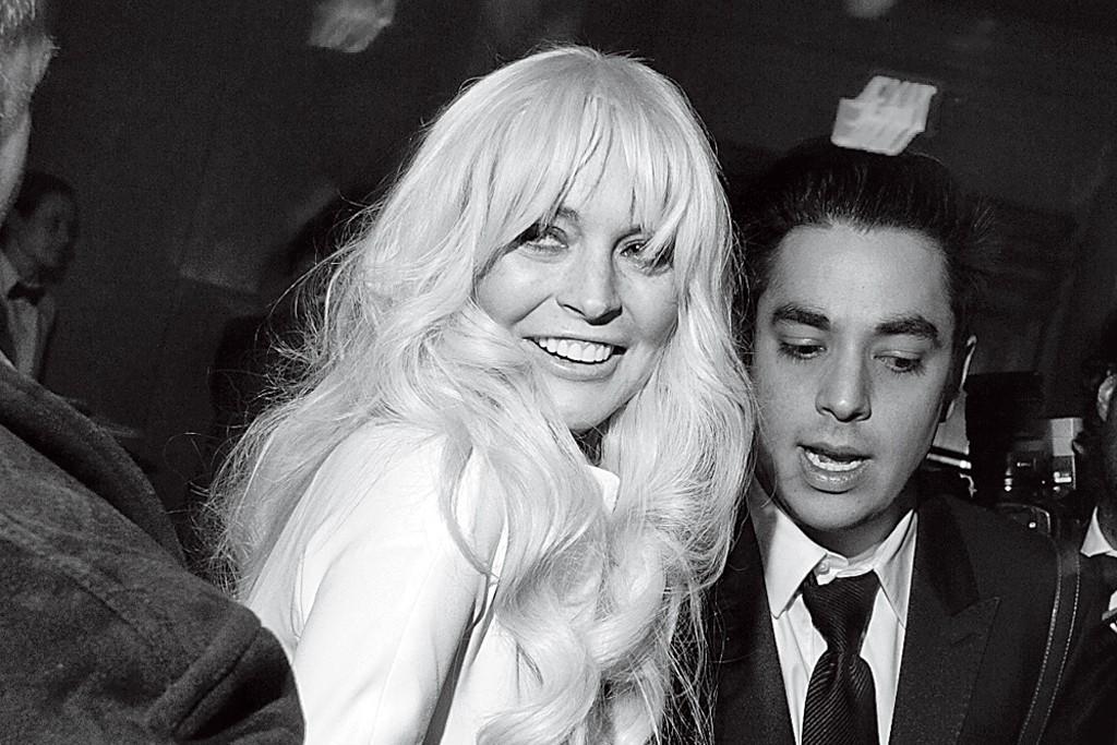 Lindsay Lohan at amfAR.