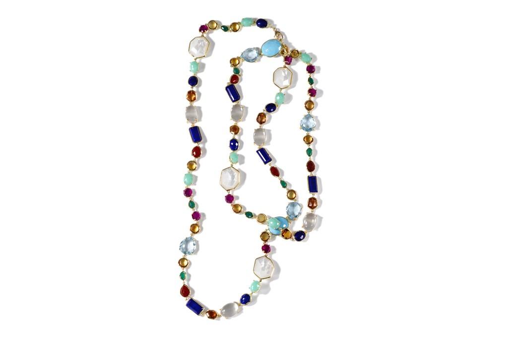 Ippolita's 18k gold necklace with semiprecious stones.