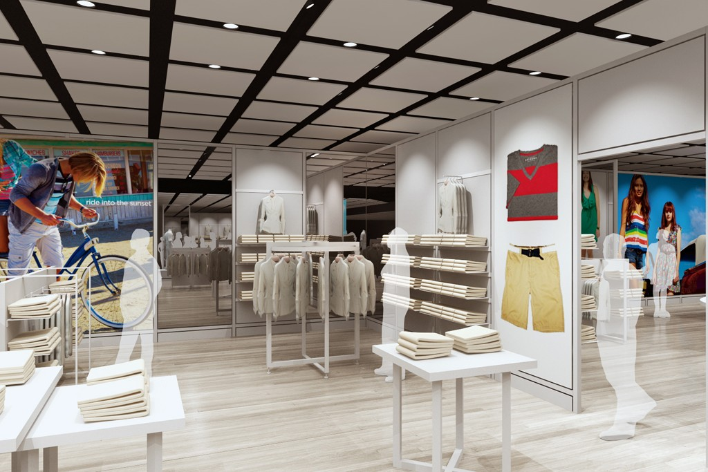 """Penney's will have """"shops"""" on its selling floors, each at least 500 square feet."""