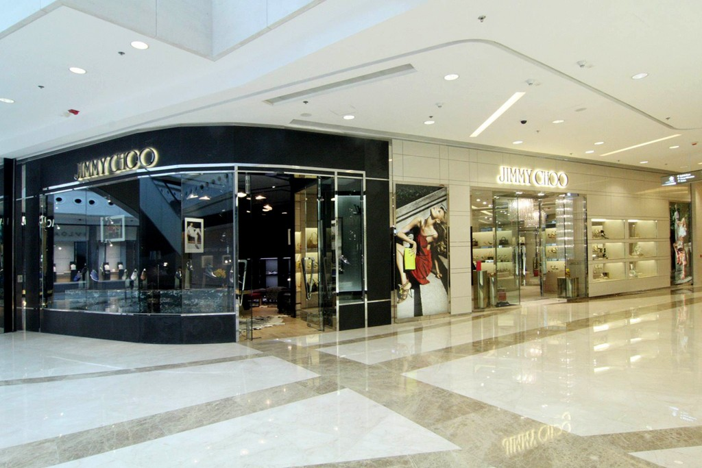 A view of the Jimmy Choo store.