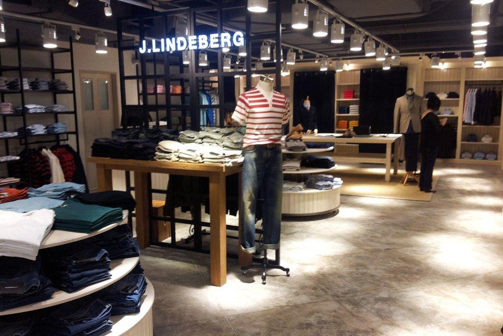The J. Lindeberg store in Singapore.