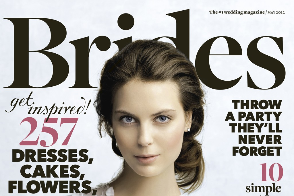 The new look of Brides magazine.