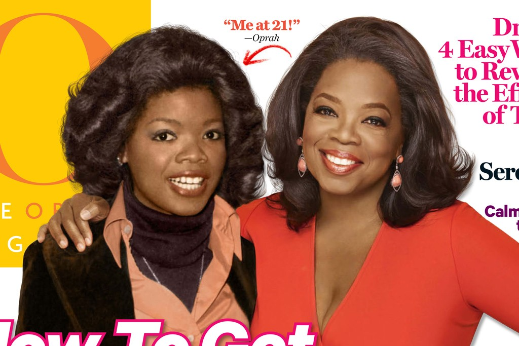 The cover of Oprah Magazine.