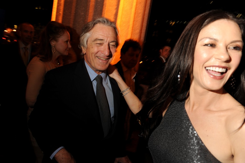Robert De Niro with Catherine Zeta-Jones in Michael Kors.