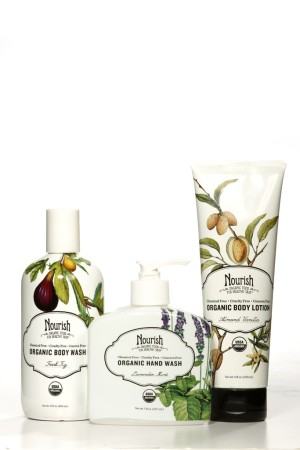 Organic body products from Nourish.