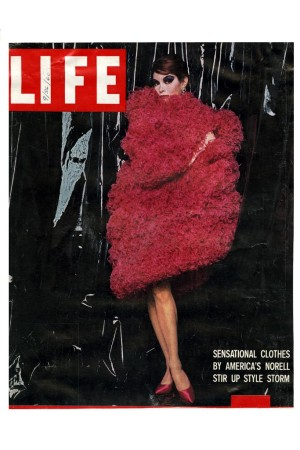 Yvonne Presser wearing Norman Norell on a Life magazine cover.