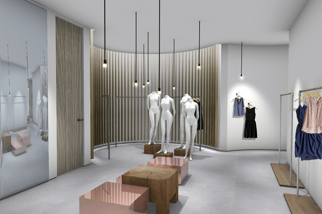 A rendering of the Rebecca Taylor store.