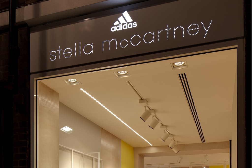 A view of the Adidas by Stella McCartney store.