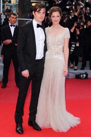 Sam Riley and Alexandra Maria Lara at the 'On the Road' premiere in Cannes.