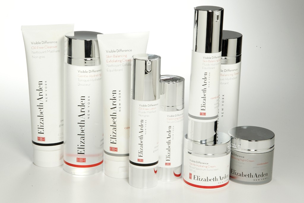 Selections from Arden's Visible Difference skin care line.