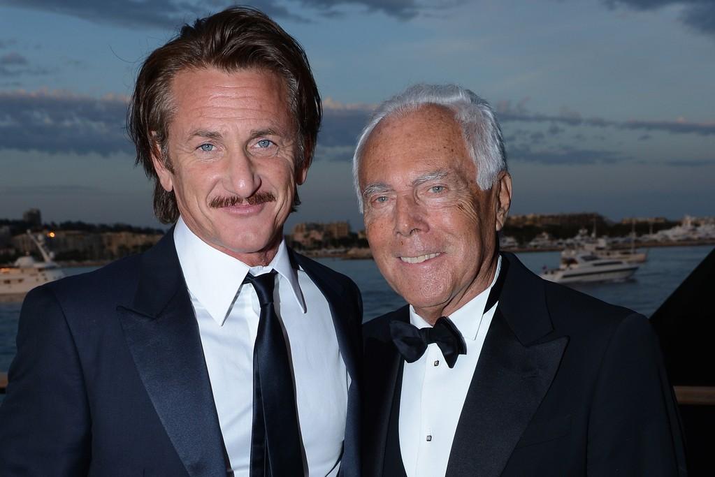 Sean Penn and Giorgio Armani.