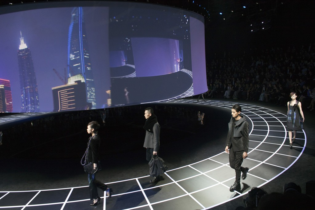 The Armani runway.